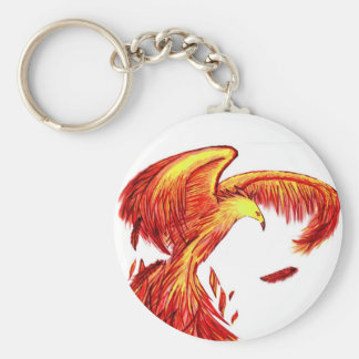 Phoenix Being Reborn Keychain. Key Ring