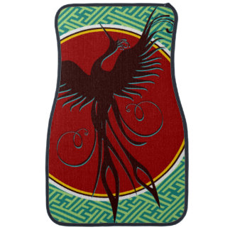 Phoenix Bird Background Car Mat