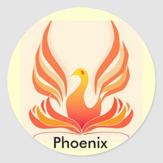 Phoenix bird classic round sticker