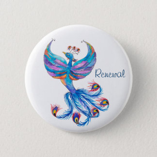 Phoenix Bird Renewal Large Button