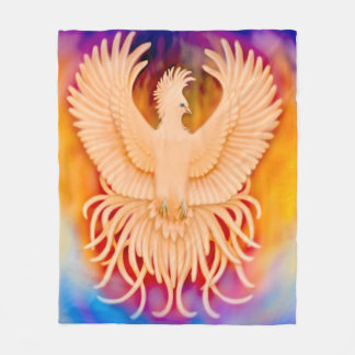 Phoenix Bird Rising Survivors Fleece Blanket