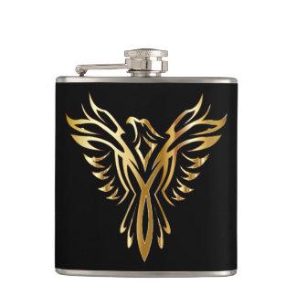 Phoenix Bird Wrapped Vinal Flask
