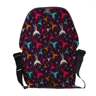 Phoenix Birds Figure Pattern Messenger Bag