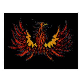 Phoenix Black Postcard