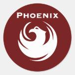 Phoenix city flag round stickers