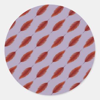 Phoenix Feather Pattern Classic Round Sticker