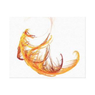 Phoenix Feather-Reborn Canvas Print