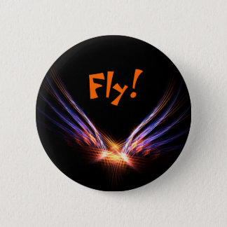 Phoenix Fire Bird 6 Cm Round Badge