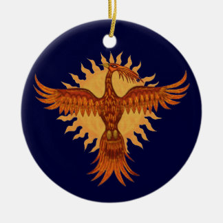 Phoenix  fire bird christmas tree ornament design