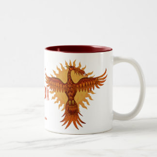 Phoenix fire bird cool mug design
