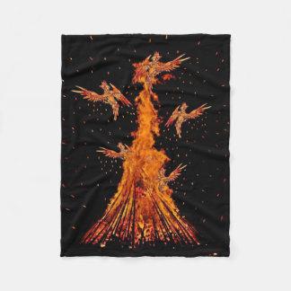 Phoenix Fire Fleece Blanket