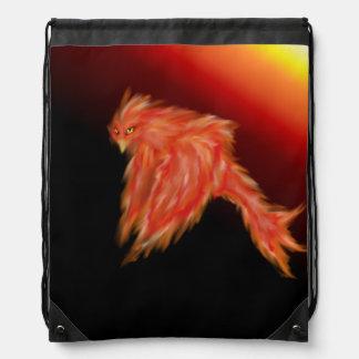 Phoenix Firebird Drawstring Bags