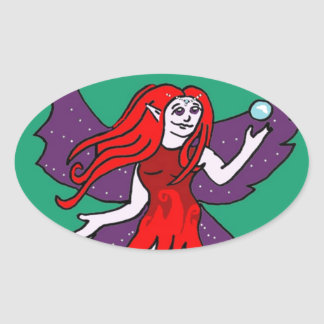 Phoenix Firefly Oval Sticker