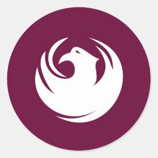 phoenix flag classic round sticker