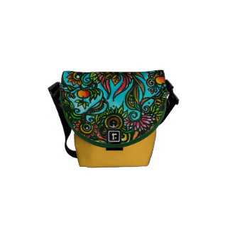 Phoenix Flower Commuter Bags