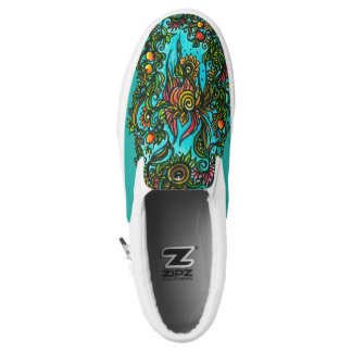 Phoenix Flower Slip-On Shoes