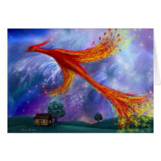 Phoenix Flying at Night Greeting Card