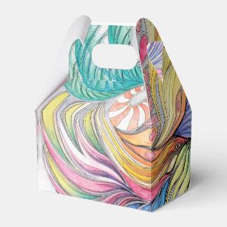 Phoenix Fronds Gable Gift Box Wedding Favour Box