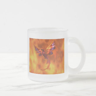 Phoenix Frosted Glass Coffee Mug