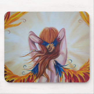Phoenix Goddess Fantasy Mouse Pad