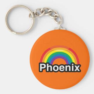 PHOENIX LGBT PRIDE RAINBOW KEY CHAIN