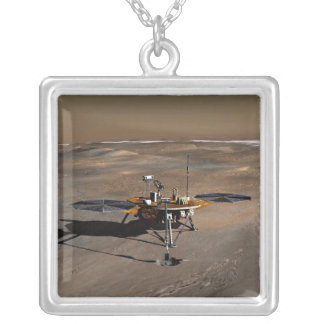 Phoenix Mars Lander 2 Silver Plated Necklace