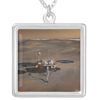 Phoenix Mars Lander 3 Silver Plated Necklace