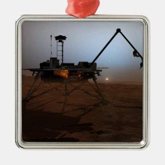 Phoenix Mars Lander 4 Silver-Colored Square Decoration