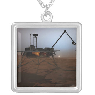 Phoenix Mars Lander 4 Silver Plated Necklace