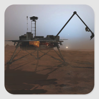 Phoenix Mars Lander 4 Square Stickers