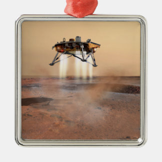 Phoenix Mars Lander Silver-Colored Square Decoration