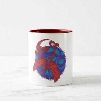 Phoenix Over Water 2 Tone Mug