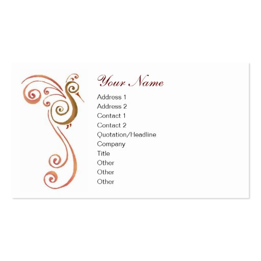 Phoenix Pack Of Standard Business Cards