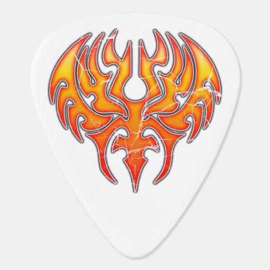 Phoenix Reborn Custom Guitar Pick Worn