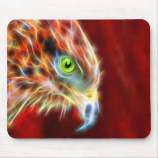 Phoenix Risen Fractal Eagle Mousepad