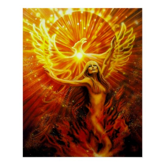 Phoenix Rising by Lisa Iris Poster