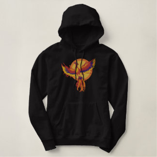 Phoenix Rising Embroidered Hooded Sweatshirt