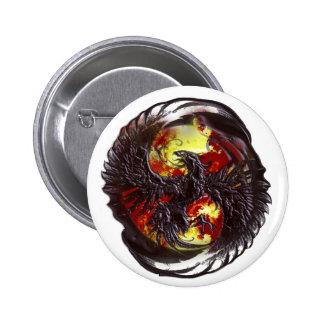 Phoenix Rising Fantasy 6 Cm Round Badge