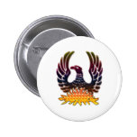 Phoenix Rising From Fire & Ashes Pin