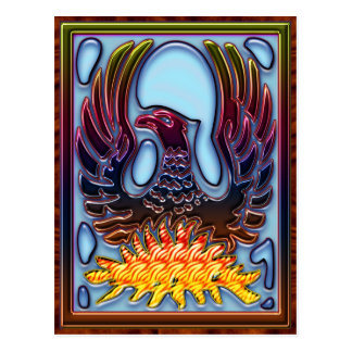 Phoenix Rising From Fire & Ashes Postcard