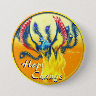 Phoenix Rising ~ Hope & Change 7.5 Cm Round Badge