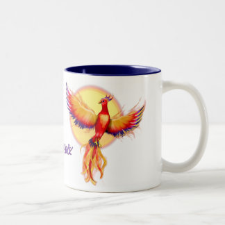 Phoenix Rising Two-Tone Coffee Mug