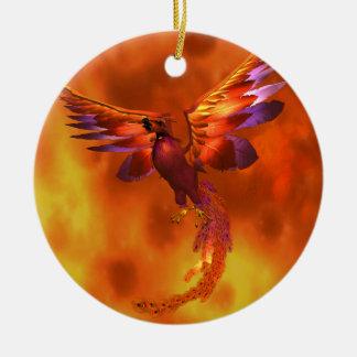 Phoenix Round Ceramic Decoration