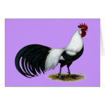 Phoenix:  Silver Duckwing Rooster Stationery Note Card