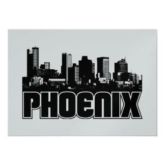 Phoenix Skyline 13 Cm X 18 Cm Invitation Card