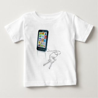 Phone access security keys concept illustration baby T-Shirt