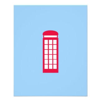 phone booth 11.5 cm x 14 cm flyer