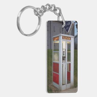 Phone Booth Canvas Double-Sided Rectangular Acrylic Keychain