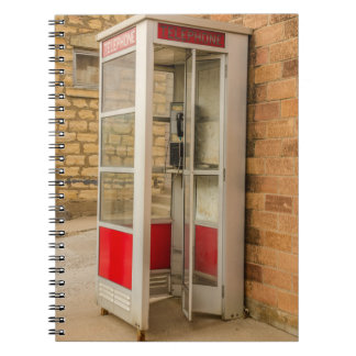 Phone Booth - Pay Phone - Payphone - Public Phone Spiral Notebooks