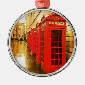Phone boxes Silver-Colored round decoration